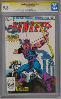 Hawkeye Limited Series #1 CGC 9.8 (W) Stan Lee Signature Series *0231967005*