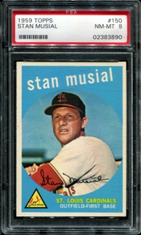 1959 Topps Baseball #150 Stan Musial PSA 8 (NM-MT) *3890