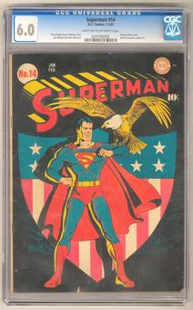Superman #14 CGC 6.0 (LT-OW) *0241992002*