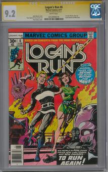 Logan's Run #6 CGC 9.2 (W) Stan Lee Signature Series *0253990018*