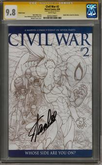 Civil War #2 CGC 9.8 (W) Stan Lee Signature Series *0255234007*