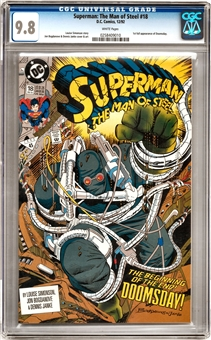 Superman: The Man of Steel #18 CGC 9.8 (W) *0258409010*