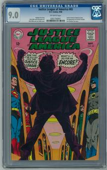 Justice League of America #65 CGC 9.0 (OW) *0261756007*