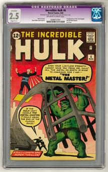 Incredible Hulk #6 CGC 2.5 Restored (OW-W) *0268757001*