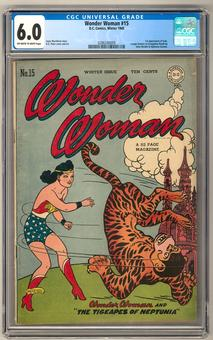 Wonder Woman #15 CGC 6.0 (OW-W) *0286240009*