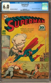 Superman #8 CGC 6.0 (C-OW) *0288402001*