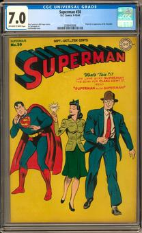 Superman #30 CGC 7.0 (OW-W) *0288402006*