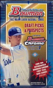 2002 Bowman Draft Picks & Prospects Baseball Hobby Box