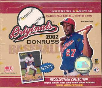2002 Donruss Originals Baseball 24 Pack Box