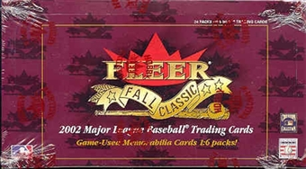 2002 Fleer Fall Classics Baseball Hobby Box