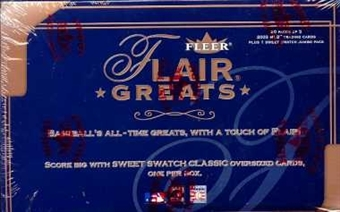 2003 Fleer Flair Greats Baseball Hobby Box