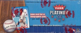 2002 Fleer Platinum Baseball Rack Box