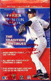 2002 Fleer Tradition Update Baseball Hobby Box