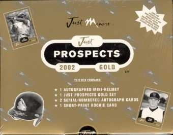 2002 Just Minors Prospects Gold Baseball Hobby Box