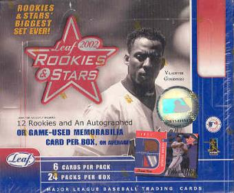 2002 Leaf Rookies & Stars Baseball 24 Pack Box