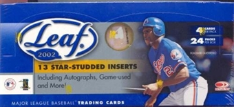 2002 Leaf Baseball Hobby Box
