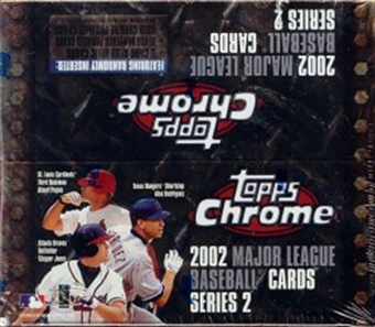 2002 Topps Chrome Series 2 Baseball 24 Pack Box