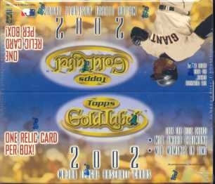 2002 Topps Gold Label Baseball 24 Pack Box
