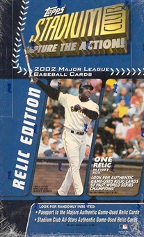 2002 Topps Stadium Club Relic Edition Baseball 24 Pack Box