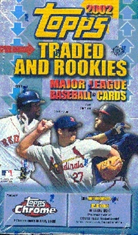 2002 Topps Chrome Traded & Rookies Baseball Hobby Box