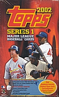 2002 Topps Series 1 Baseball Hobby Box