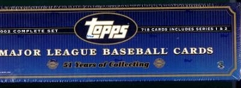 2002 Topps Baseball HTA Factory Set (Box) (Blue)