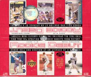 2002 Upper Deck Rookie Debut Baseball 24 Pack Box