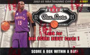 2002/03 Fleer Box Score Basketball Hobby Box