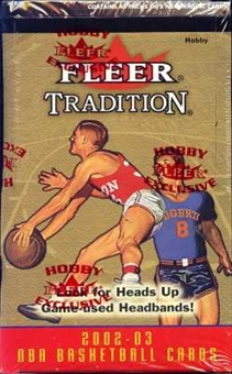 2002/03 Fleer Tradition Basketball Hobby Box