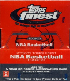 2002/03 Topps Finest Basketball Hobby Box