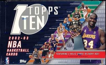 2002/03 Topps Ten Basketball Hobby Box