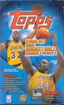 2000/01 Topps Series 1 Basketball Jumbo Box