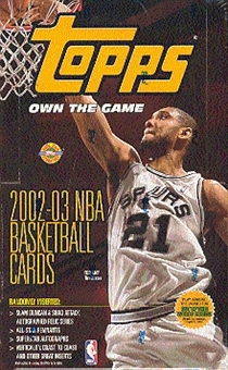 2002/03 Topps Basketball Jumbo Box