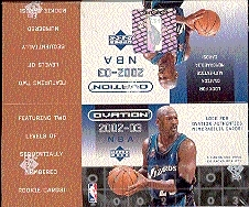 2002/03 Upper Deck Ovation Basketball Hobby Box