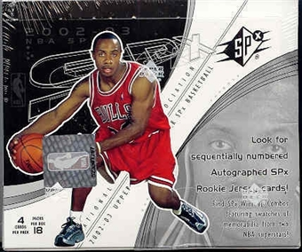 2002/03 Upper Deck SPx Basketball Hobby Box