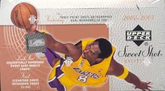 2002/03 Upper Deck Sweet Shot Basketball Hobby Box
