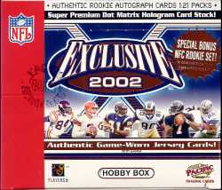 2002 Pacific Exclusive Football Hobby Box