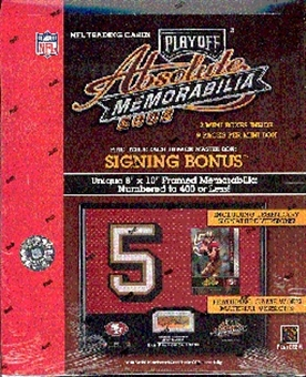 2002 Playoff Absolute Memorabilia Football Hobby Box