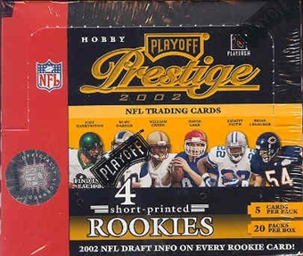 2002 Playoff Prestige Football Hobby Box