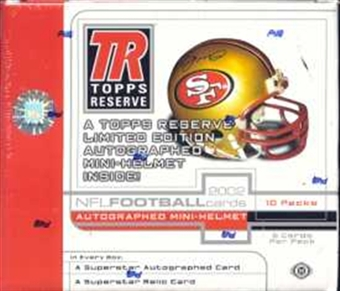 2002 Topps Reserve Football Hobby Box