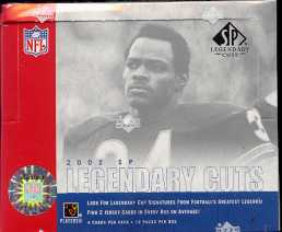 2002 Upper Deck SP Legendary Cuts Football Hobby 16-Box Case