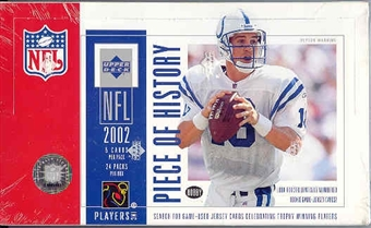 2002 Upper Deck Piece Of History Football Hobby Box