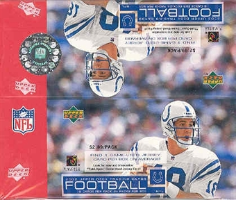 2002 Upper Deck Football 24 Pack Box