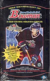 2002/03 Bowman Young Stars Hockey Hobby Box