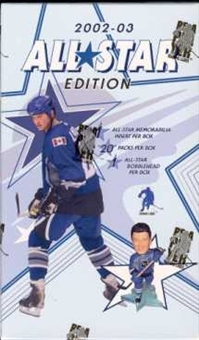 2002/03 Be A Player All-Star Edition Hockey Hobby Box