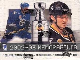 2002/03 Be A Player Memorabilia Hockey Hobby Box