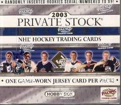 2002/03 Pacific Private Stock Reserve Hockey Hobby Box