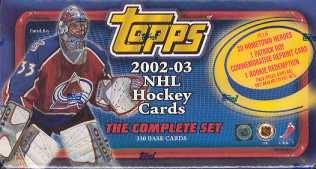 2002/03 Topps Hockey Factory Set (box)
