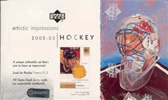2002/03 Upper Deck Artistic Impressions Hockey Hobby Box