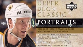 2002/03 Upper Deck Classic Portraits Hockey Hobby Box